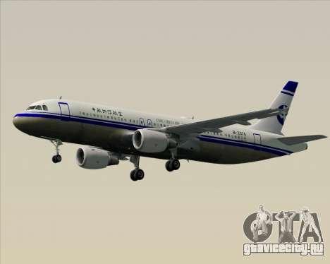 Airbus A320-200 CNAC-Zhejiang Airlines для GTA San Andreas вид снизу