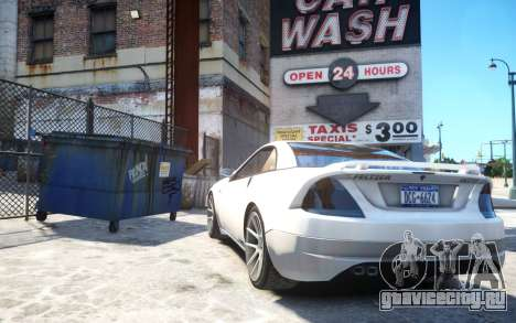 Benefactor Feltzer Grey Series v3 для GTA 4 вид сзади слева