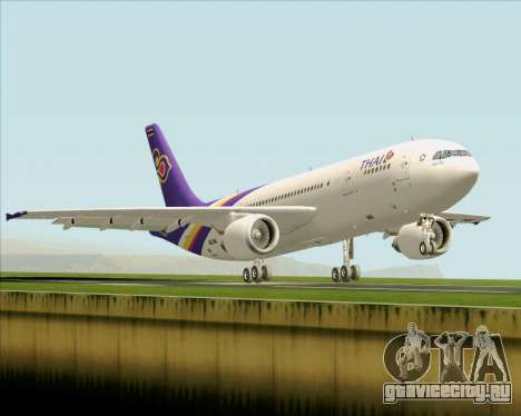 Airbus A300-600 Thai Airways International для GTA San Andreas вид сзади
