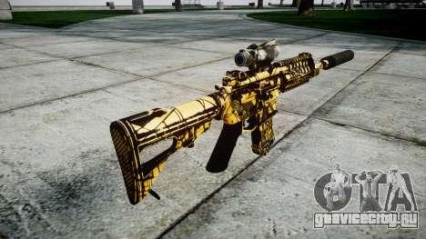 Автомат P416 ACOG silencer PJ4 для GTA 4 второй скриншот
