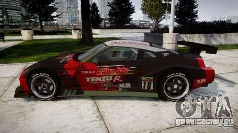 Nissan GT-R Super GT [RIV] для GTA 4 вид слева