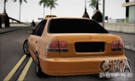 Honda Civic Fake Taxi для GTA San Andreas вид слева