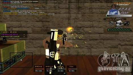 C- HUD A.C.A.B для GTA San Andreas третий скриншот