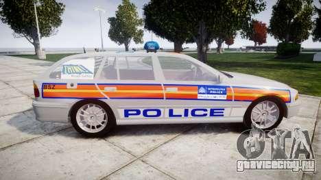 BMW 525i E39 Touring Police [ELS] JSTV для GTA 4 вид слева