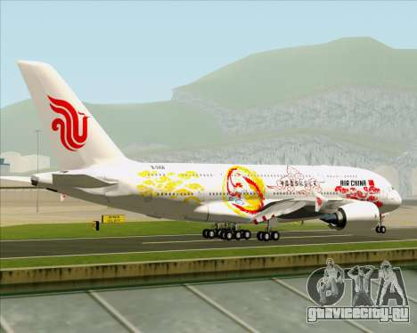Airbus A380-800 Air China для GTA San Andreas вид справа