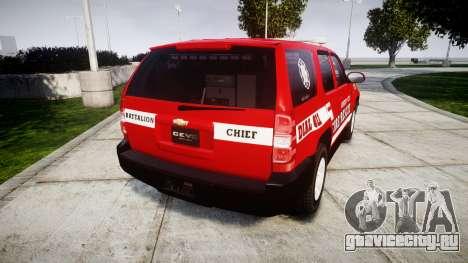 Chevrolet Tahoe Fire Chief [ELS] для GTA 4 вид сзади слева