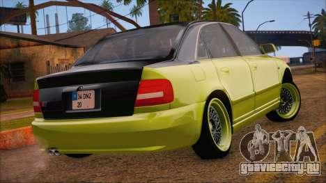 Audi S4 Fatlace для GTA San Andreas вид слева