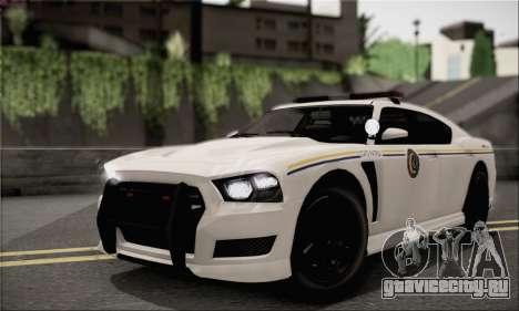Bravado Buffalo S Police Edition (IVF) для GTA San Andreas вид изнутри