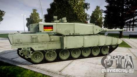 Leopard 2A7 DE Green для GTA 4 вид слева