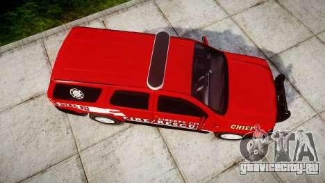 Chevrolet Tahoe Fire Chief [ELS] для GTA 4 вид справа