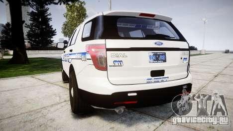 Ford Explorer 2013 [ELS] Liberty County Sheriff для GTA 4 вид сзади слева