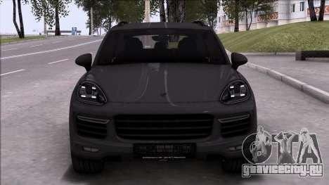 Porsche Cayenne Turbo 2015 для GTA San Andreas вид слева