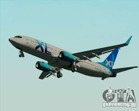 Boeing 737-800 XL Airways для GTA San Andreas вид изнутри