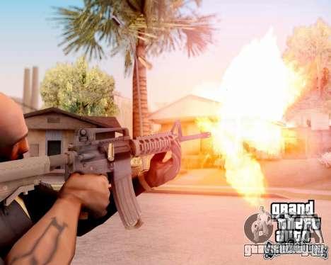 M4A1 BF4 для GTA San Andreas пятый скриншот