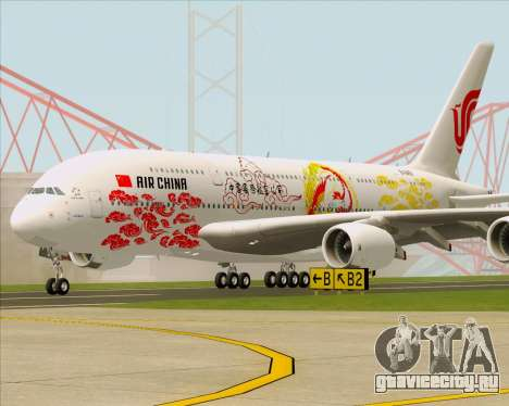 Airbus A380-800 Air China для GTA San Andreas вид слева