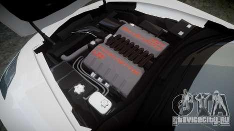 Chevrolet Corvette C7 Stingray 2014 v2.0 TireBr2 для GTA 4 вид сбоку