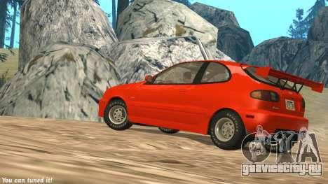 Daewoo Lanos Sport 2001 г. США для GTA San Andreas вид сбоку