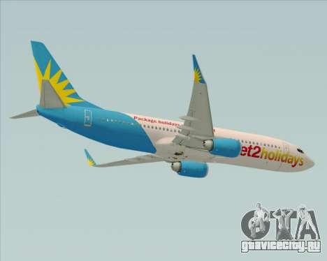 Boeing 737-800 Jet2Holidays для GTA San Andreas вид изнутри