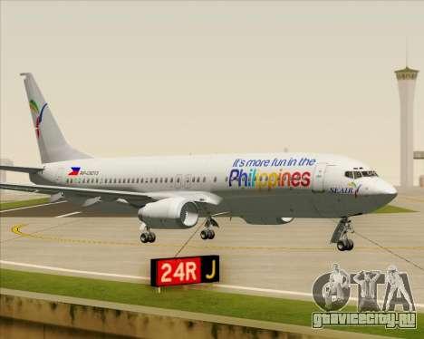 Boeing 737-800 South East Asian Airlines (SEAIR) для GTA San Andreas вид изнутри