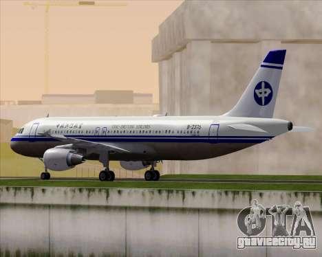 Airbus A320-200 CNAC-Zhejiang Airlines для GTA San Andreas вид сзади слева