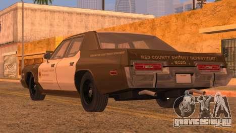 Dodge Monaco RCSD 1974 для GTA San Andreas вид слева