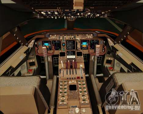 Boeing 747-100 Trans World Airlines (TWA) для GTA San Andreas салон