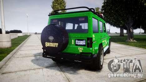 GTA V Benefactor Dubsta [ELS] Sheriff для GTA 4 вид сзади слева