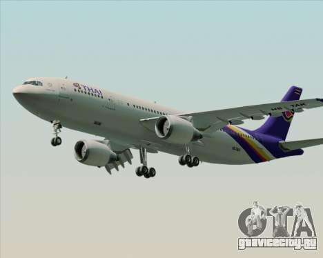 Airbus A300-600 Thai Airways International для GTA San Andreas вид изнутри