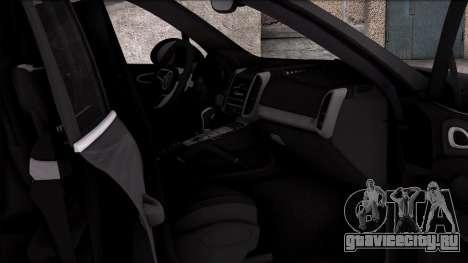 Porsche Cayenne Turbo 2015 для GTA San Andreas вид сзади