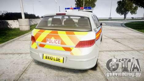 Vauxhall Astra 2010 Metropolitan Police [ELS] для GTA 4 вид сзади слева