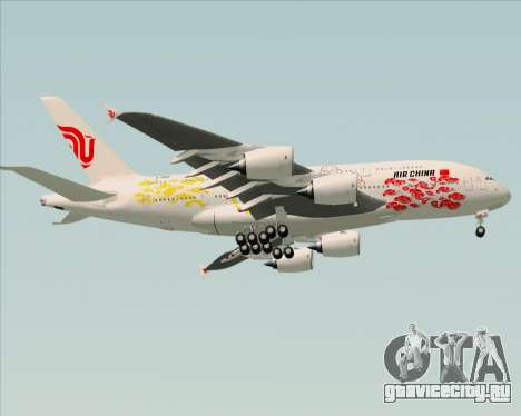Airbus A380-800 Air China для GTA San Andreas вид сзади
