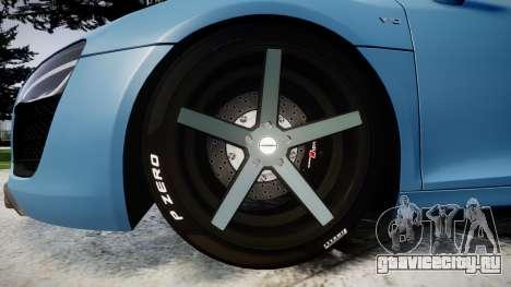 Audi R8 V10 Plus 2013 Vossen VVS CV3 для GTA 4 вид сзади