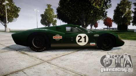 Ford GT40 Mark IV 1967 PJ Mixlub 21 для GTA 4 вид слева