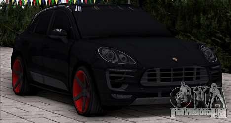 Porsche Macan Vossen для GTA San Andreas вид сзади слева
