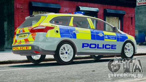 Met Police Ford Focus Estate IRV ELS 8 2013 для GTA 4 вид слева