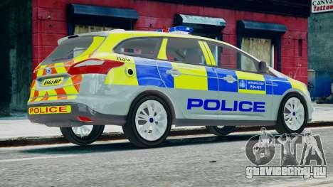 Met Police Ford Focus Estate IRV ELS 8 2013 для GTA 4 вид слева