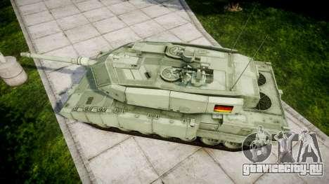 Leopard 2A7 DE Green для GTA 4 вид справа