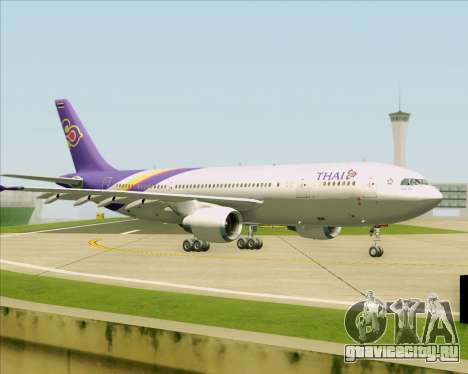 Airbus A300-600 Thai Airways International для GTA San Andreas вид сверху