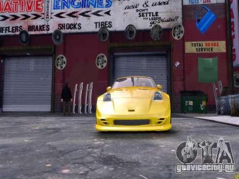 Nissan 350Z Fast And Furious Tokyo Drift для GTA 4 вид справа