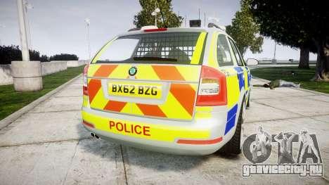 Skoda Octavia vRS Comb Metropolitan Police [ELS] для GTA 4 вид сзади слева