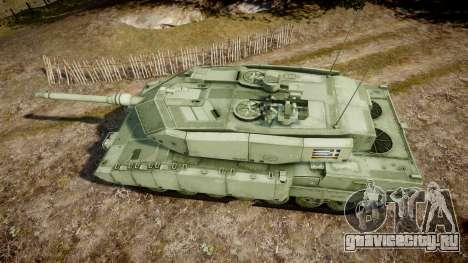 Leopard 2A7 GR Green для GTA 4 вид справа