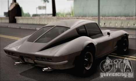 Invetero Coquette Classic v1.1 для GTA San Andreas вид сзади слева