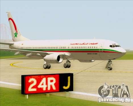 Boeing 737-8B6 Royal Air Maroc (RAM) для GTA San Andreas вид сбоку