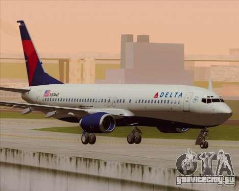 Boeing 737-800 Delta Airlines для GTA San Andreas вид сзади