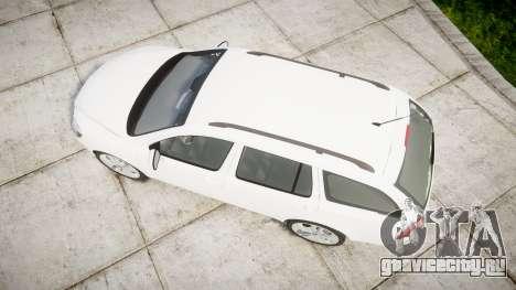 Skoda Octavia vRS Combi Unmarked Police [ELS] для GTA 4 вид справа