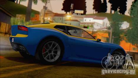 GTA 5 Lampadati Furore GT (IVF) для GTA San Andreas вид слева