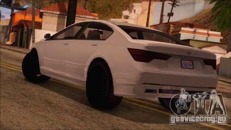 GTA 5 Ubermacht Sport для GTA San Andreas вид слева