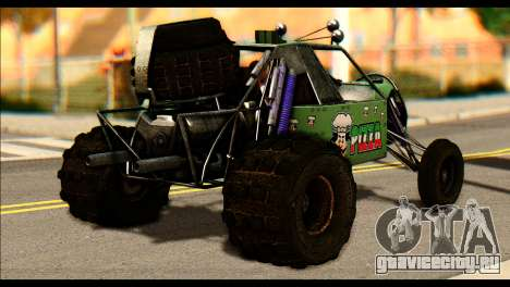 Buggy Fireball from Fireburst для GTA San Andreas вид слева