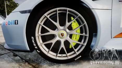 Porsche 918 Spyder 2014 Weissach для GTA 4 вид сзади