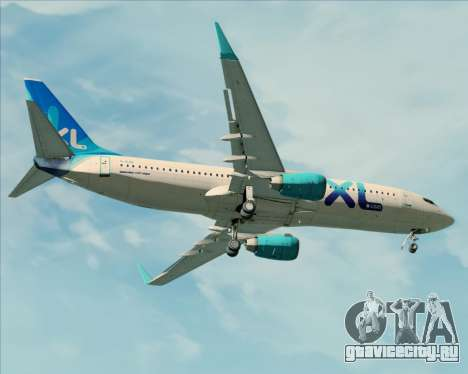 Boeing 737-800 XL Airways для GTA San Andreas вид снизу